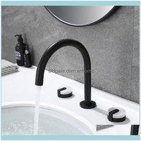 Bathroom Faucets, Showers As Home & Gardethroom Sink Faucet Widespread Deck Mounted 2 Handle 3 Hole Basin Mixer Tap Sk-2203 Faucets Drop Del