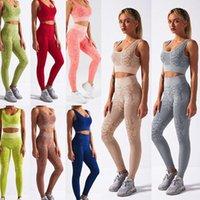 Women's Leggings Yoga Outfit Women Seamless 2 Piece Set Workout Gym Leggins High Waist Snake Print Push Up With Sport Bra