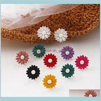 Coreano fresco dolce carino solido tracy fiore perla donna ragazze orecchini gioielli moda Vnwy1 Nga8x