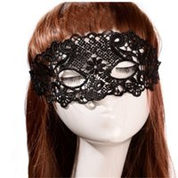 Black Sexy Lace Mask Cutout Eye Mask for Halloween Masquerade Party Fancy Dress Costume