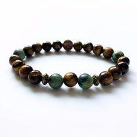 Natural Strands Yellow Tiger Eye Bracelet African Turquoises Wrist Men's Bracelets Yoga Mala Gift For Men Good Collection