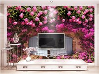 Wallpapers Custom Mural Po 3d Wallpaper Pink Rose Flower Background Picture Room Decor Painting Wall Murals For 3 D