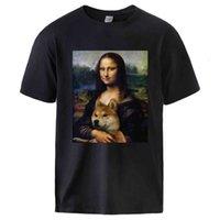 MONA LISA Shiba Inu Doge Casual Manica corta in cotone T-shirt T-shirt Tee 2021 Estate uomo di alta qualità Streetwear Streetwear Tshirt