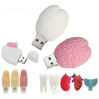 Human Organs Heart Lung Tooth Finger Pen Drive 128GB USB Flash Drives Pendrive 16GB 32GB 64GB Cle USB2.0 Memory Stick