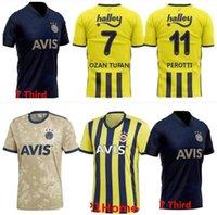 Fenerbahce 20 21 كرة القدم الفانيلة Camisetas de Fútbol Home Mesut Özil Perotti Ozan Tufan Samata Camiseta Football Shirts Homee