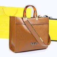 Designer di lusso borse da sera borse da sera Borsa a tracolla di alta qualità shopping materiale in pelle ambra doppia maniglia grande capacità lettera