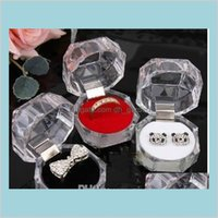 Jewelry & Jewelryjewelry Package Boxes Ring Holder Earring Display Acrylic Transparent Wedding Packaging Storage Box Cases Drop Delivery 202