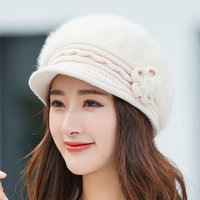 Beanie Skull Caps Warm Girl Winter Autumn Beret Hat For Women Wool Knitted Mom Fur Solid Fashion Lady Cap Fall Female