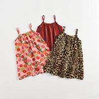 Abiti da ragazza Abiti per neonati Abbigliamento Bambini Abbigliamento Indossare Estate Cotton Holiday Beach Spiaggia senza maniche Leopardo Frutti Abbigliamento infantile Boemia B6652