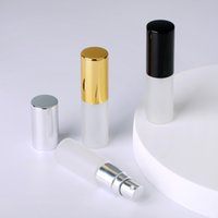 100 Pcs Lot 5ml Refillable Perfume Atomizer Spray Bottle Frosted Glass Bottle Pump Portable Travel Container Cosmetic for Gift