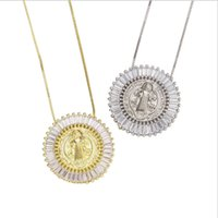 12pcs lot 30mm Micro Pave CZ San Benito Necklace For Women & Gift Chamrs Chains
