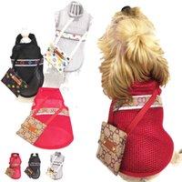 3Colors verão respirável malha roupa roupas sol-protetora com presbiopia sacos desenhador flores padrão cães roupas por atacado