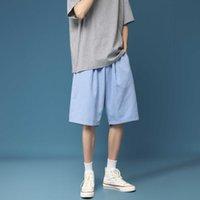 Moda Impresso Shorts Men's Knee Towerness Bermuda Calças Curtas Broek Sweatshorts Streetwear All-Match Conforto Comfort Beach Shorts