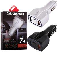 Carregador de carro rápido rápido 3 USB Tipo C 35W 7A Auto Power Adaptador Carregadores para Samsung S7 S8 Android Phone PC