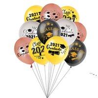 Латексный оформление воздушного шара 2021 Выпускной сезон Партия Воздушные шары сфотографировали Аранжированные Сцена Украшения 100 шт. / Комплект OWE5679