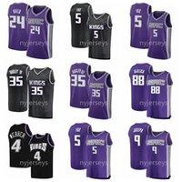 2021 Basketball Jerseys De'Aaron Fox Jersey Tyree Haliburton Buddy Haliburton Budge Harrison Barnes Couverte taille S-XXXL respirant à sec rapide blanc noir