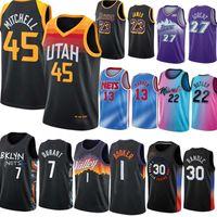 Miami Heat Basketball Jerseys 13 Adebayo 3 Dwyane Wade 22 Butler 14 Herro Nets Brookly 7 Durant 11 Irving Phoenix Suns NBA 1 Devin Booker Utah Jazz 45 Mitchell 27 Gobert