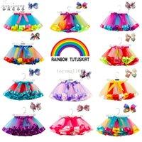 18 색 아기 소녀 투투 드레스 사탕 무지개 색상 아기 스커트 머리 띠가 세트 아이 휴일 댄스 드레스 투투스 2021 CPA4233