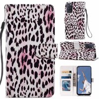 Leopard Leather Wallet Cases For Galaxy A32 4G A52 A72 A21S A22 S21 Ulttra S20 FE A12 5G A51 A71 Cute Flower Pineapple Butterfly Marble Wolf Rock Holder ID Card Flip Cover