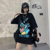 dark Casual Dresses original Summer Suzuki printed short sleeve T-shirt for women