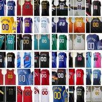 Versión de jugadores auténticos Jerseys de baloncesto cosido Irving Harden Durant Booker Doncic Stephen James Curry Wiseman Rose Sexton Butler Jokic