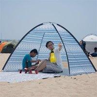 Палатка на пляже, подходящее для открытого кемпинга зонтика легкий семейный тени и укрытия