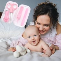 Kits de Arte Nail 4 Pcs Kids Cuidados Tesoura Lindo Conjunto de Segurança Infantil Cutter Materno Born Ferramenta de limpeza