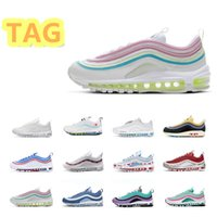 Hommes Femmes Running Chaussures Rainbow Sliver Bullet Mschf x INRI Jésus San-Volt Formateurs de sports de plein air Rose Sneakers