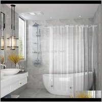 Curtains Aessories & Gardenstocked Shower Waterproof For Home El Crystal Clear Bathroom Eco-Friendly With 3 Magnetic Bottom Bath Curtain Drop