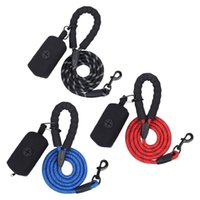 Dog Collars & Leashes Leash Reflective Nylon Small Large Puppy Durable Collar Lead Rope Cat Big Pet Harness With Poop Bags