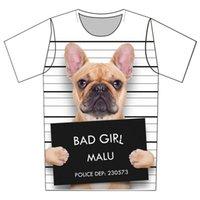 Joyonly Bambini Bad Dog American Bull Terrier Stampa T-shirt Bambini Estate Top Girls Boys Manica Corta T Shirt Bambino Vestiti