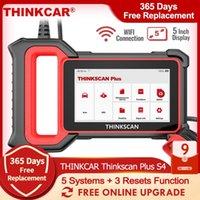 Thinkcar Thinkscan Plus S4 Outils de diagnostic de voiture OBD2 Scanner automobile ABS SRS 5 Code système Reader A / F CVT Huile BMS Réinitialisation
