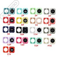 Colorful Watch Cover for Watch Series 1 2 3 4 5 Soft TPU Silicone Case for iwatch 38mm 40mm 42mm 44mm Screen Protector Frame Bumper Case