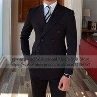 Brown / Amarilla Grooms Desgaste de la chaqueta con pantalones 2 piezas Set Business Blazers Hombres Trajes para Weding Hecho a medida Terneros Hombres