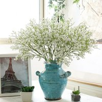 1pcs Artificial Baby's Breath Flower Gypsophila Fake Silicone Plant For Wedding Home El Party Decoration 9 Colors Decorative Flowers & Wreat