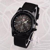 WristWatches Gemius Exército Relógios Homens Nylon Band Quartz Sports Horloge Heren Orologio Donna