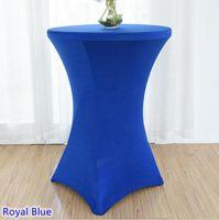 Table de table 22 Couleurs Cover Cocktail Spandex High Bar Linge Lycra Mariage Party El Décoration en vente