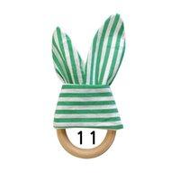 아기 젖니가있는 장난감 나무 훈련 씹는 장난감 토끼 귀 스트라이프 도트 인쇄 teethers 만화 토끼 귀에 soothers 816 x2
