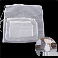 Housekeeping Organization Home & Garden Drop Delivery 2021 Filter Bag Kitchen Reusable Strainer Liquid Nut Milk Tea Fruit Juice Cheesecloth N