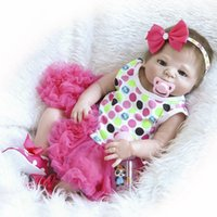 22 polegadas realista artesanal renascido bebê bonecas de corpo inteiro vinil silicone menina boneca recém-nascido bebês presentes de banho presente