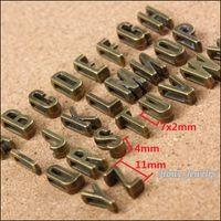 Ganze 390 Stück Vintage Charms Mischen Buchstaben Antike Bronze Fit Leder Leder Slide Seil Armband Schmuck Produktion 10090