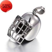 Love pulseira de aço inoxidável colar dos homens acessórios de esportes moda capacete de beisebol pingente de titânio