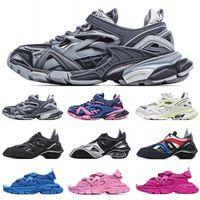 [Con caja] preferencial 2021 Balenciaga Track 4.0 retro old shoes running shoes Balenciaga 5.0 tyrex Sneaker Bicol Or Rubber/Mesh/Not Wash Black Velcro sandals