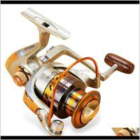 Bobine Sports Drop Livraison 2021 Yumoshi 12BB Outdoor Outdoor Pleinting Bobine de pêche Tête de pêche Tête de métal F9FHP
