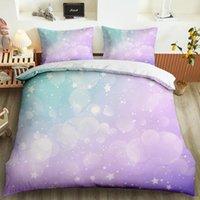 Bokeh brillo halo ropa de cama personalizada reina rey solo impresión impresión funda de almohada suave edredón cubierta colorido dormitorio decoración conjuntos