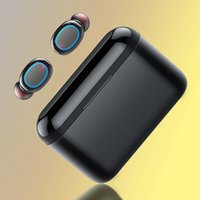 A2 Tws Mini Wireless Charging Bluetooth Headset Latest 5.0 Touch Master-slave Switch to Mobile Phone Headphones with 2600mah