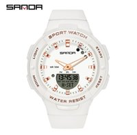 SANDA Brand Simple Clean Watches Fashion Trend Outdoor Leisure Boys and Girls Students Luminous Watch