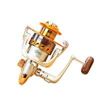 Nuevo EF500 - 9000 Series Carretes de pesca de aluminio 12BB Rodamientos de bolas Tipo Reel Anti Awater Corrosión Roller Pesca H1014