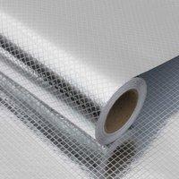 40 cm Cozinha à prova de óleo auto adesivo papel de parede impermeável alumínio folha adesivos de parede anti-incrustante armário backsplash papel de parede Q0723