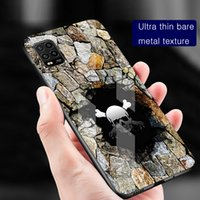 Ariginal 3D wall black hole Skull Phone case cover for iphone 6 6s 7 8 Plus x xr xs 11 12 pro max tempered glass shockproof